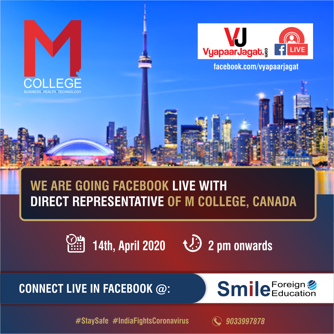 Study in Quebec- Live Webinar by M College, Canada
