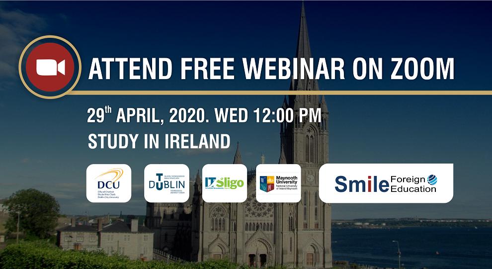 LIVE WEBINAR STUDY IN IRELAND