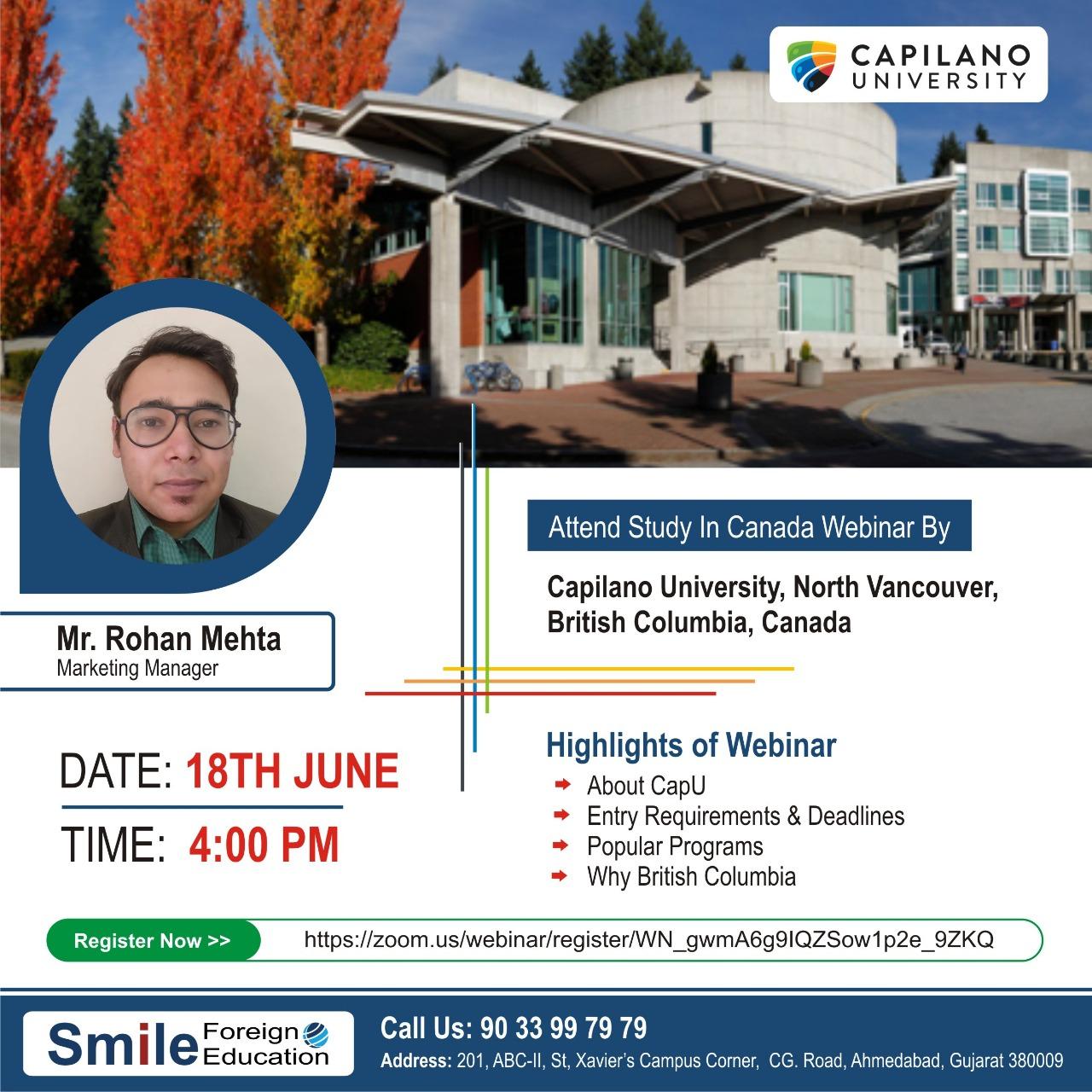 Capilano University – Live Webinar