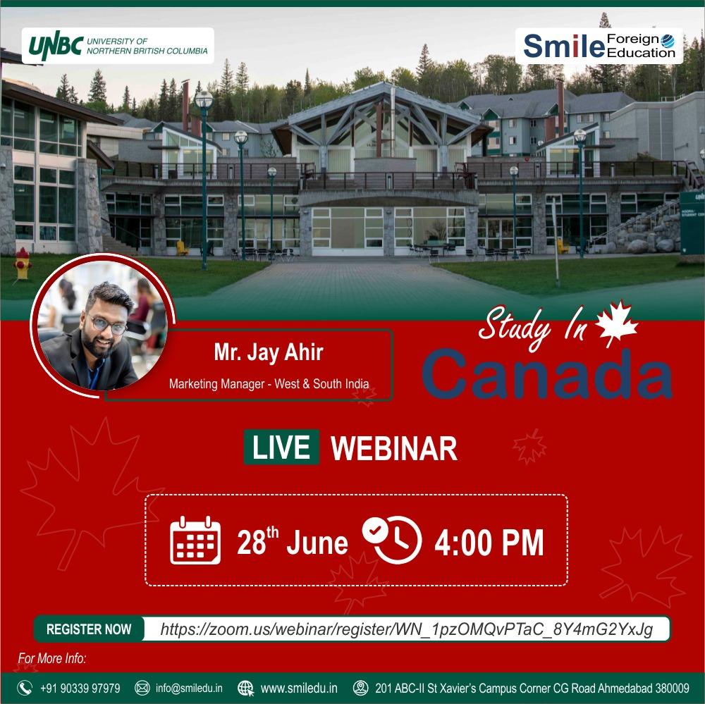 University of Northern British Columbia – Live Webinar